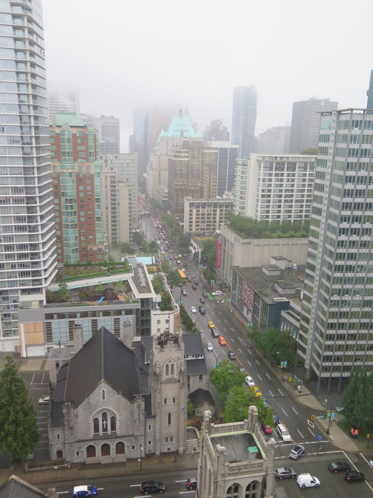 Vancouver Aussicht vom Hotelzimmer