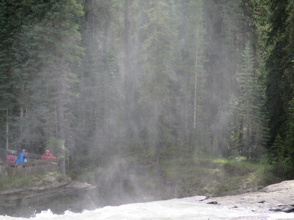 Athabasca Wasserfälle Nebel