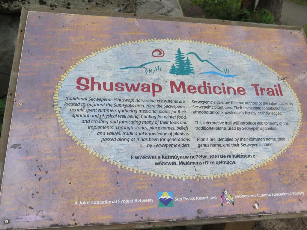 Schild vom Medicine Trail