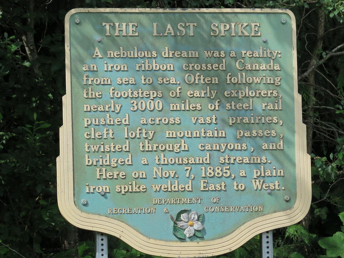 Last Spike Schild