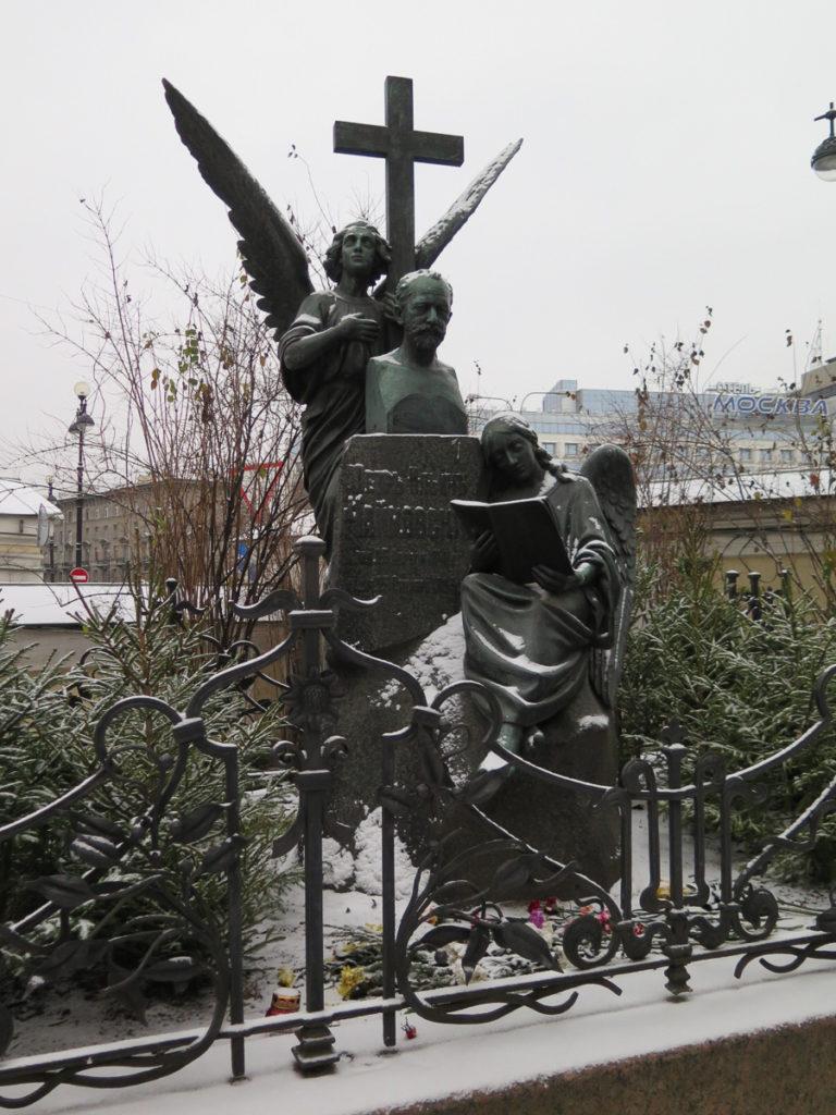 Grab von Tschaikowski auf dem Friedhof Alexander Nevski Kloster in St. Petersburg