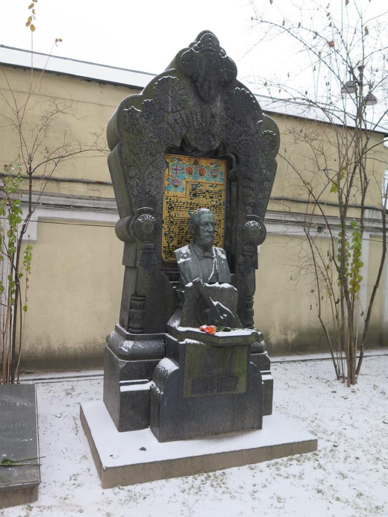 Grab von Borodin auf dem Friedhof Alexander Nevski Kloster in St. Petersburg