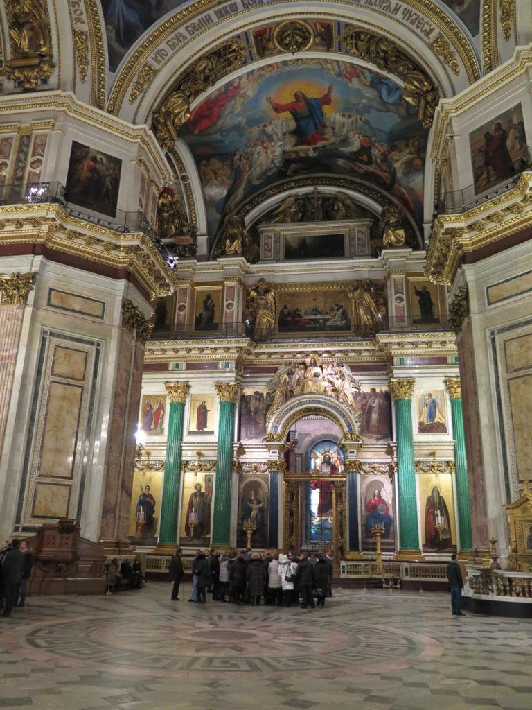 Malerei in der Isaakskathedrale in St. Petersburg