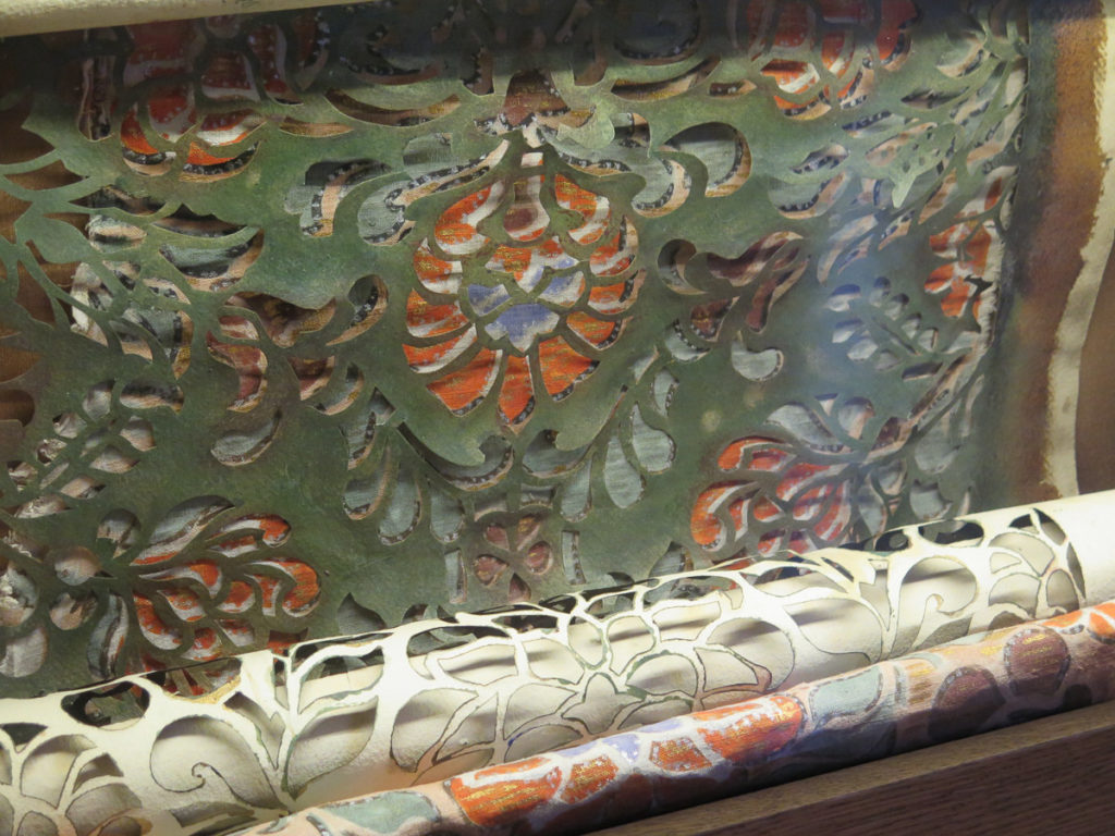 Bühnenbildmalerei Sjablone im Theatermuseum in St.Petersburg