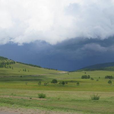 Fifty shades of green: erste Begegnung mit der Mongolei