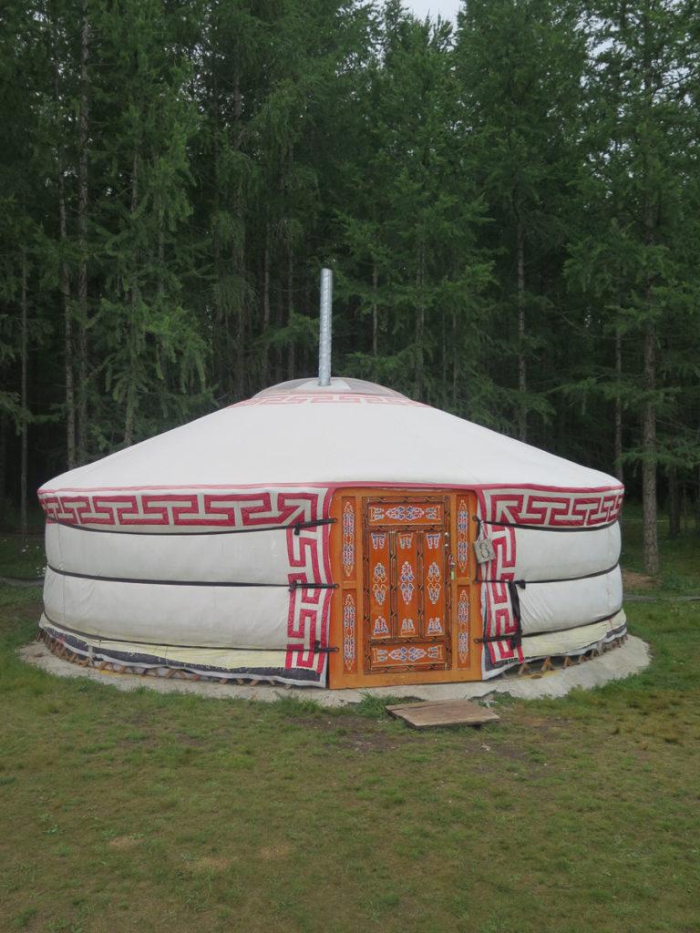 Mongolische Jurte von aussen