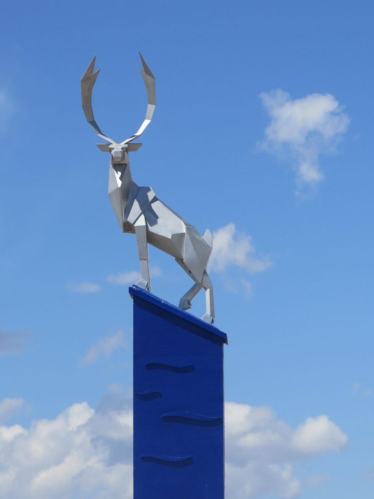 Hirschstatue in Murun Mongolei