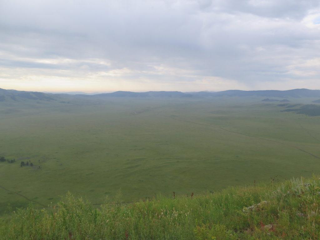 Aussicht grüne Wiesen in der Mongolei