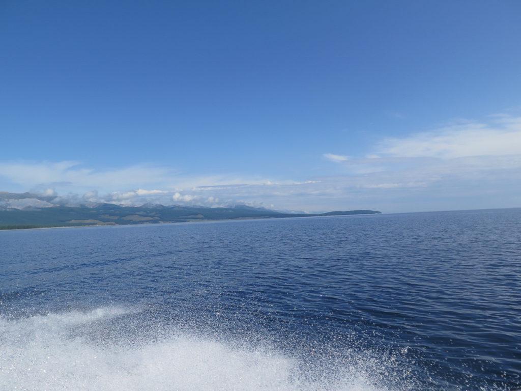 Chuwsgulsee vom Boot aus