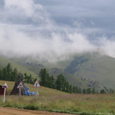 Zum Tsagaan Nuur und Vulkan Khorgo auf lange Wege mit viel Regen