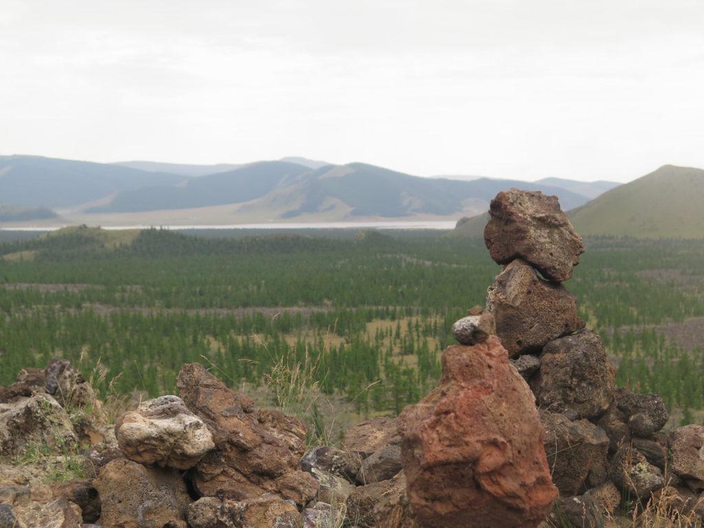Aussicht vom Vulkan Khorgo