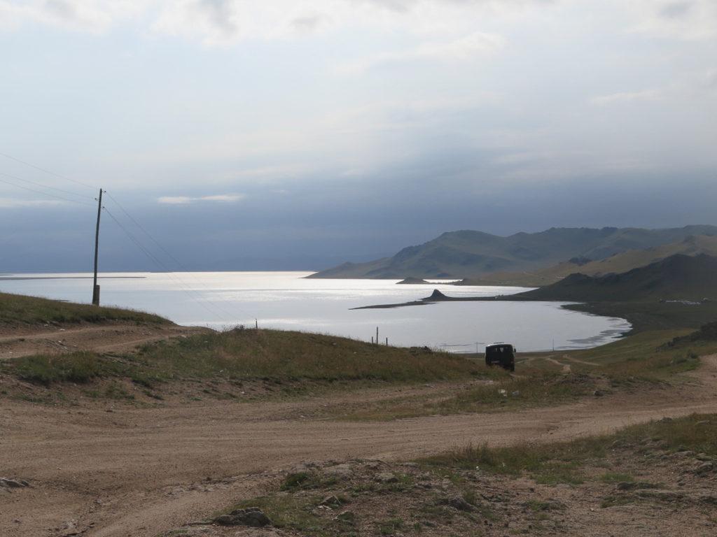 blick auf den Tsagaan Nuur See