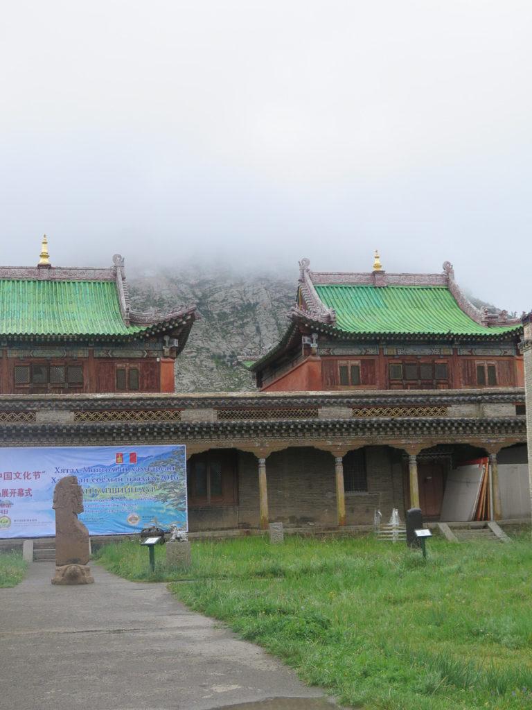 Tsetserleg Museum Aimag altes Klostergebäude mit grüne Dächer