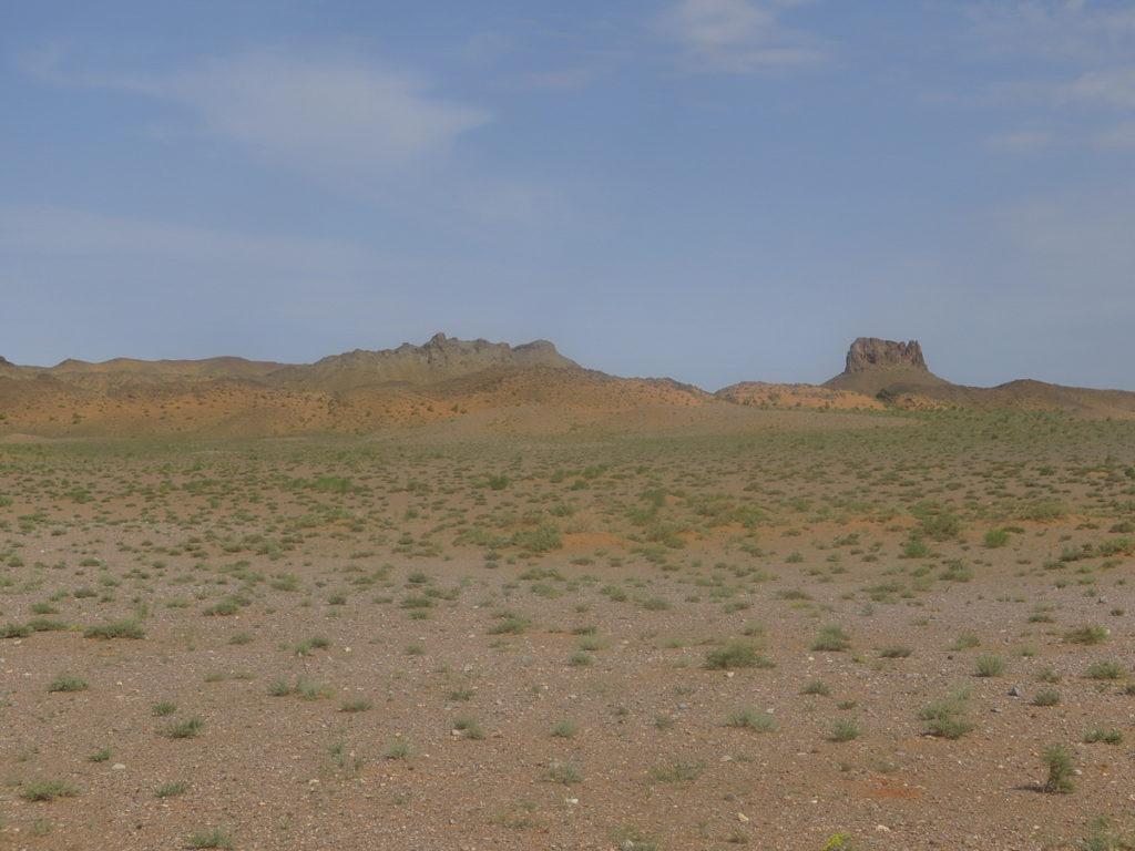 Wüste Gobi, rote Landschaft