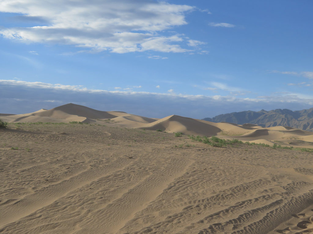 Khongoryn Els Sanddünen blauer Himmel, Wüste Gobi