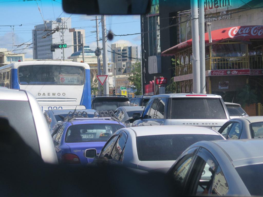 Stau in Ulaanbaatar