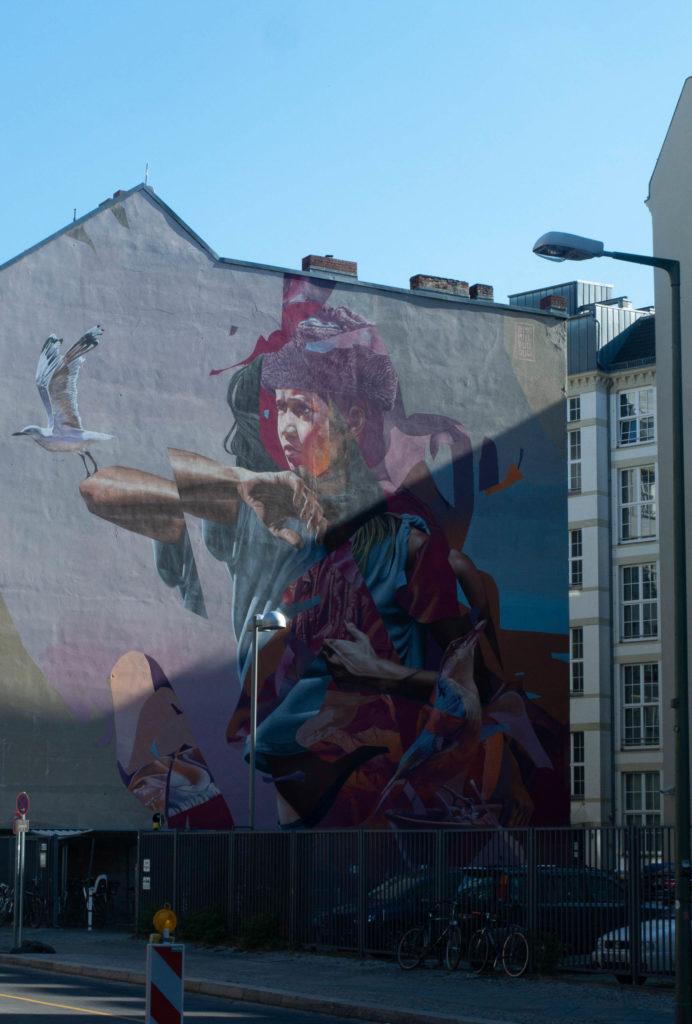 Berlin Wandmalerei von Telmo Miel