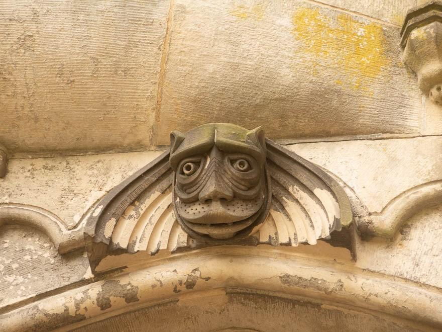Fassadenfigur Burg Bentheim aus Sandstein