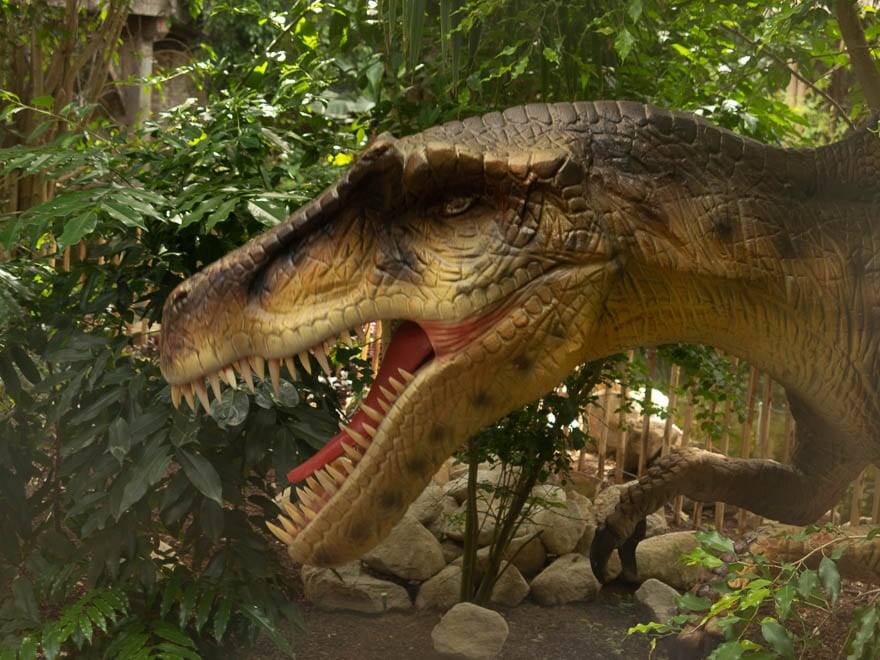 Dinosaurierkopf aus Kunststoff