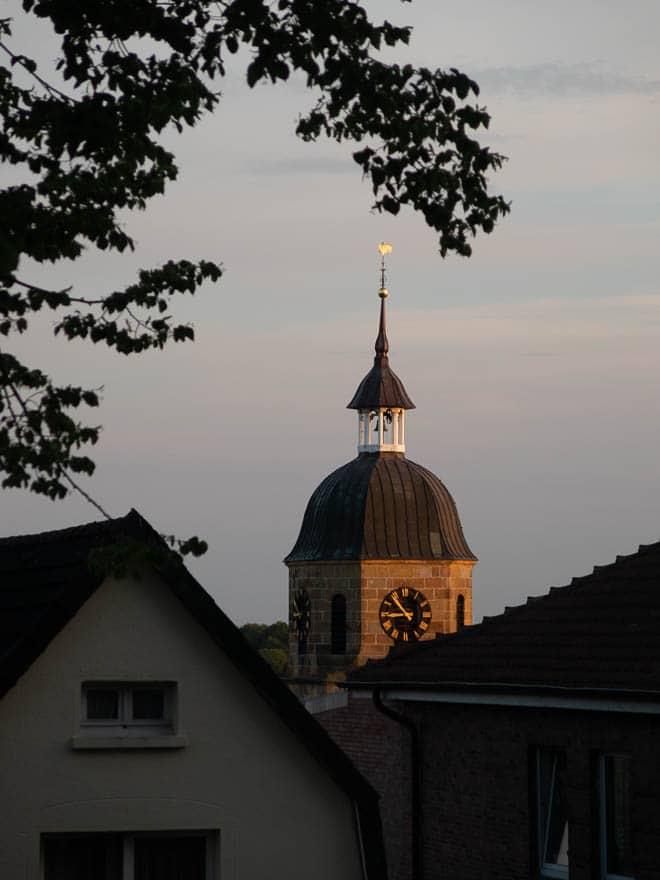 Kirche im Abendlicht Bad Bentheim