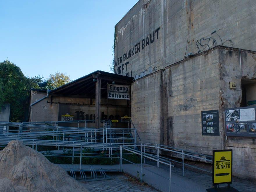 Berlin Bunker Ansicht draußen
