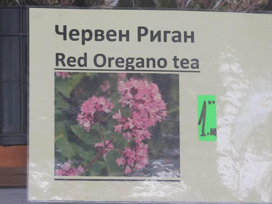 Schild Red Oregano Tea