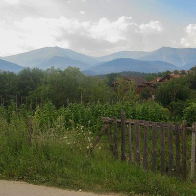 Aussicht Berge in Gorno Draglishte Rhodopen