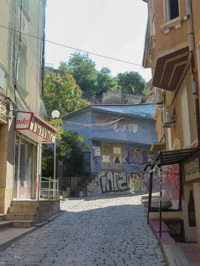 Straße in der Alstadt von Plovdiv