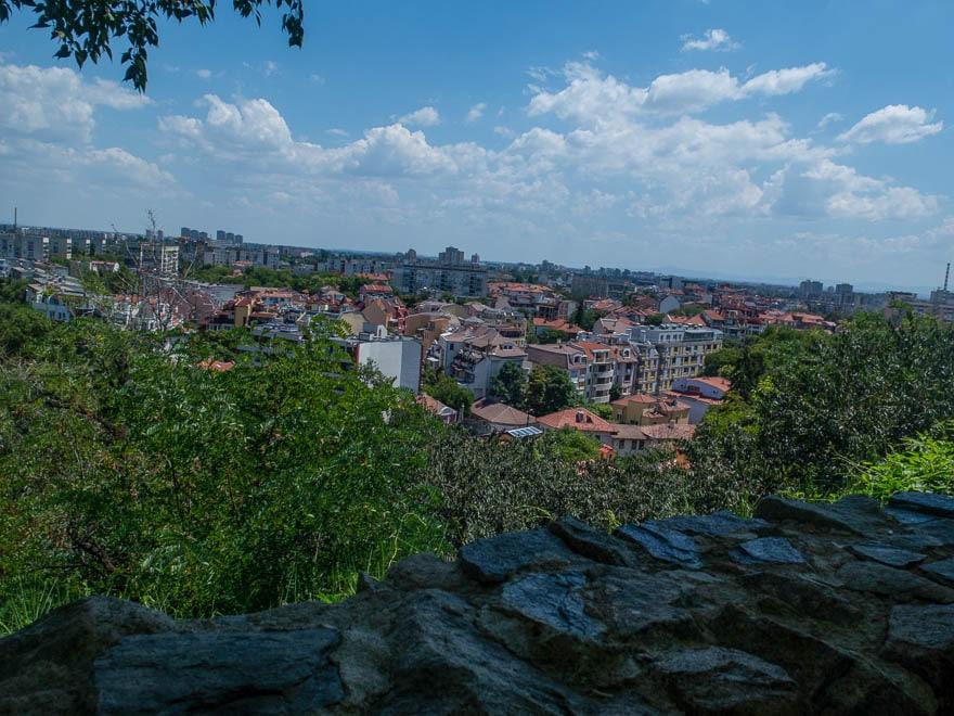 Aussicht Terrasse Rahat Tepe Plovdiv über die Stadt