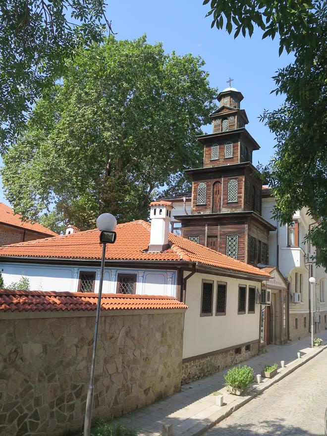 Plovdiv Kirche mit Holzturm