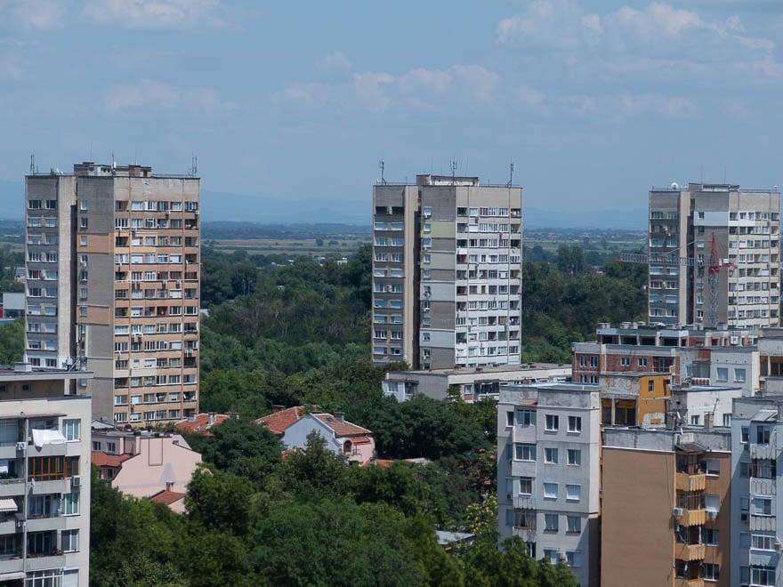 Hochhäuser Plattenbau in Plovdiv