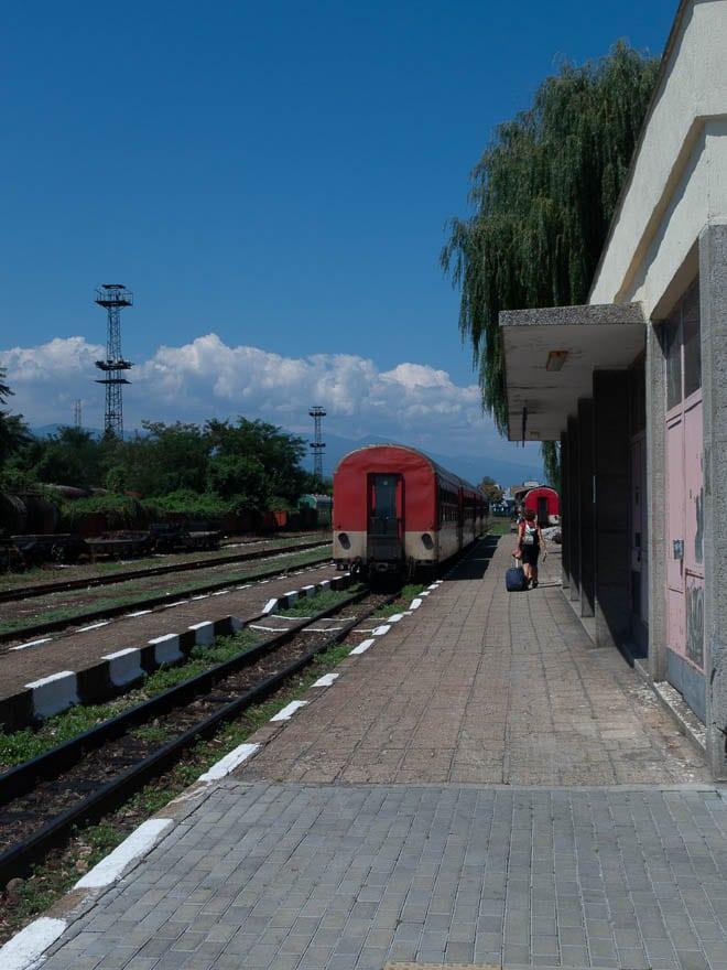 Septemvri Bahnhof, Schmalspurbahn Rhodopen