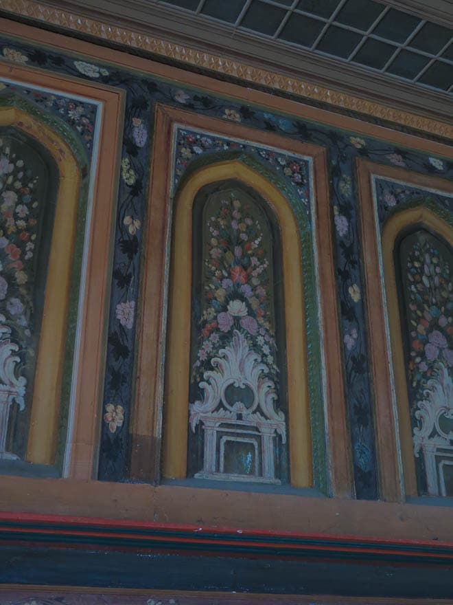 Wandmalerei im Kordopulova Haus in Melnik