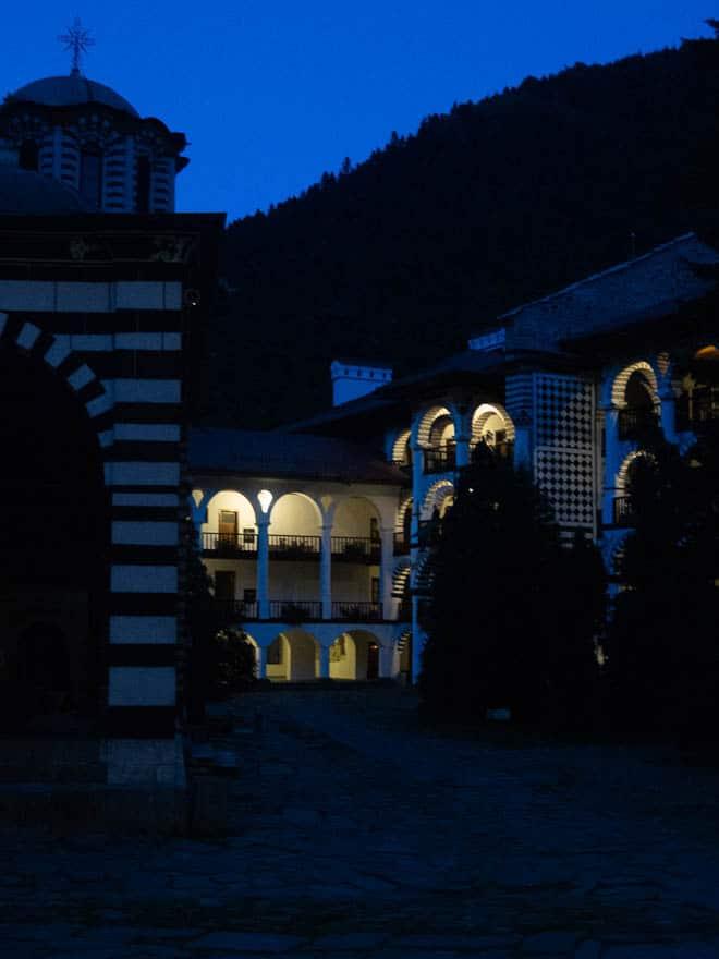 Rila Kloster in der Dämmerung
