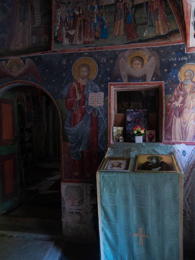 Lukas Kapelle in der Nähe vom Rila Kloster mit Wandmalereien
