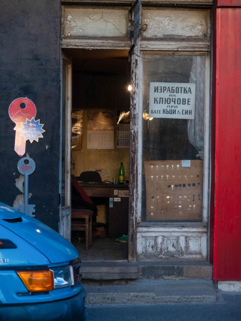Schlüsselmacherladen in Sofia