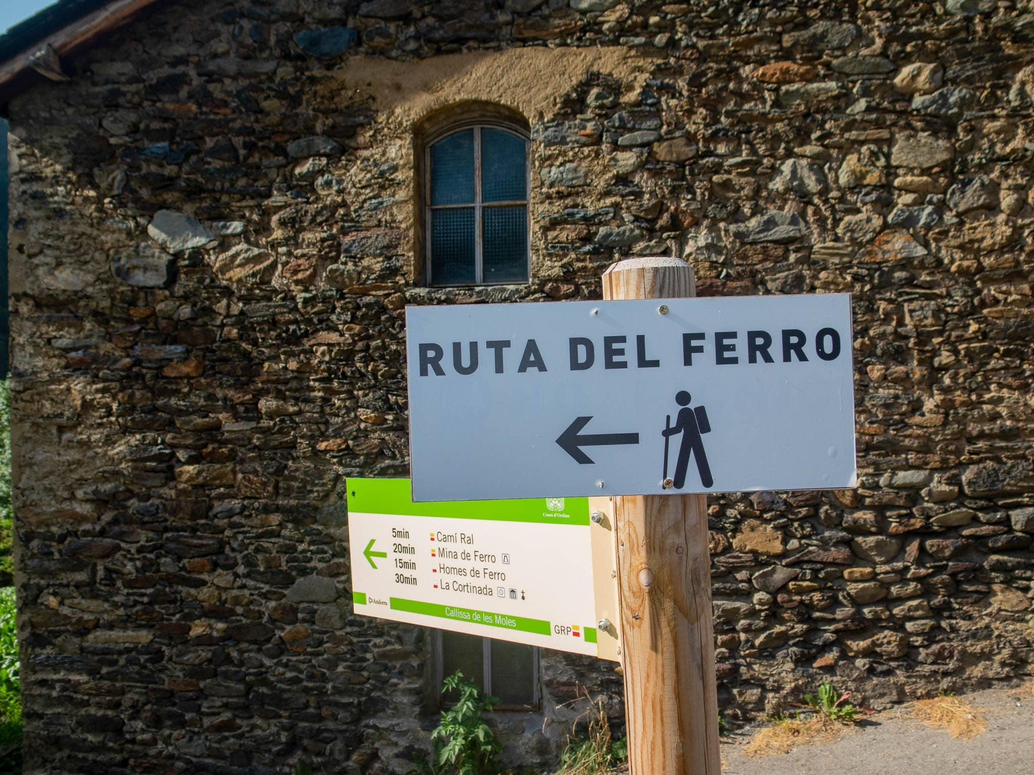 Schild Eisenweg Andorra