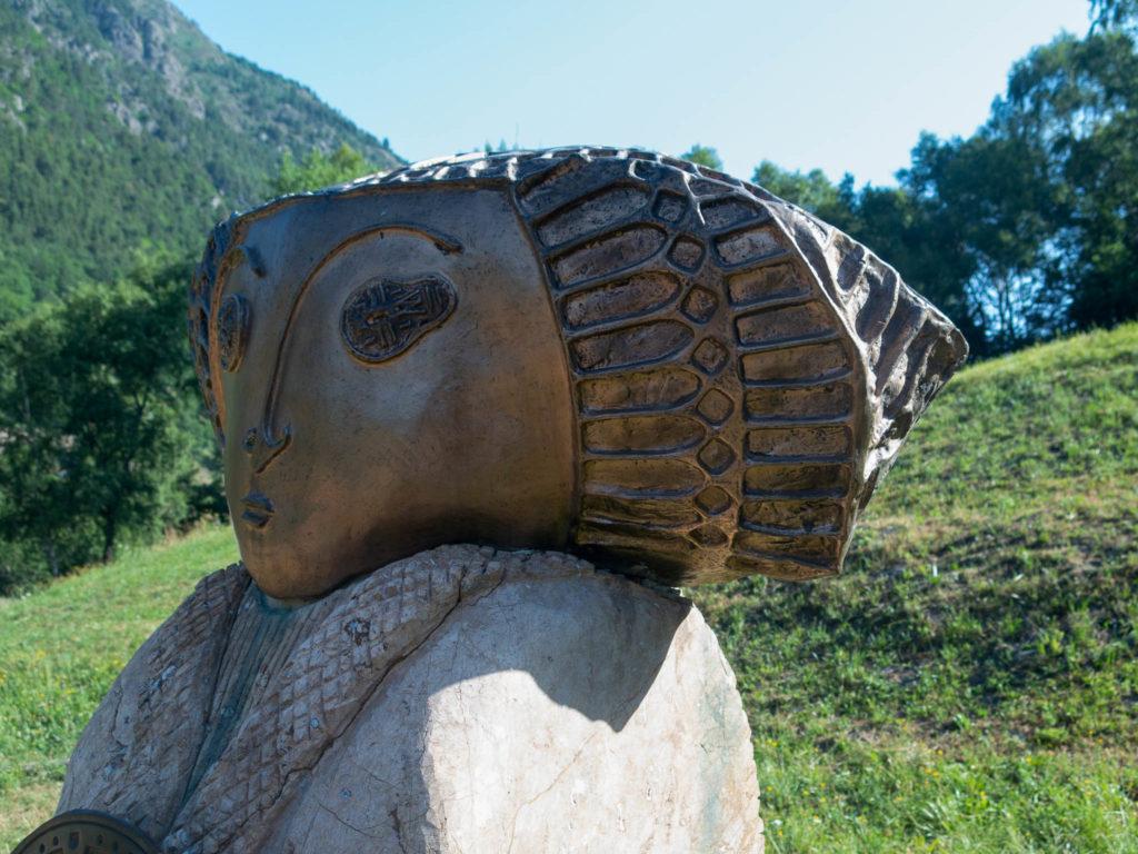 Skulptur auf dem Eisenweg in Andorra
