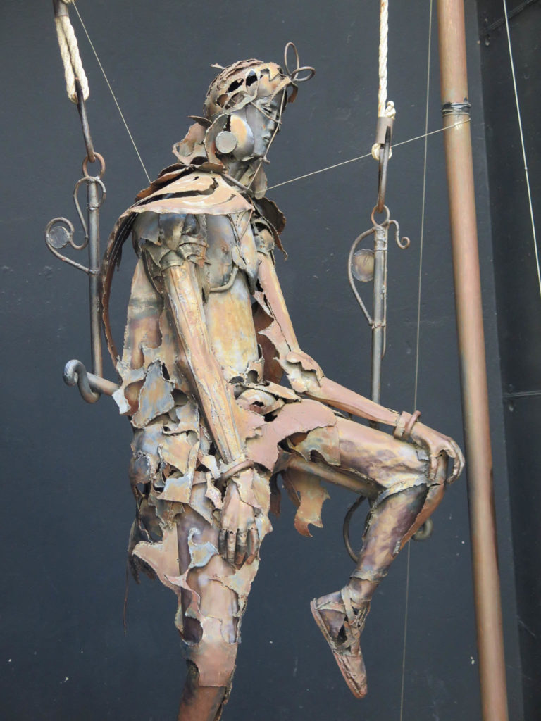Skulptur in Andorra la Vella aus Metall