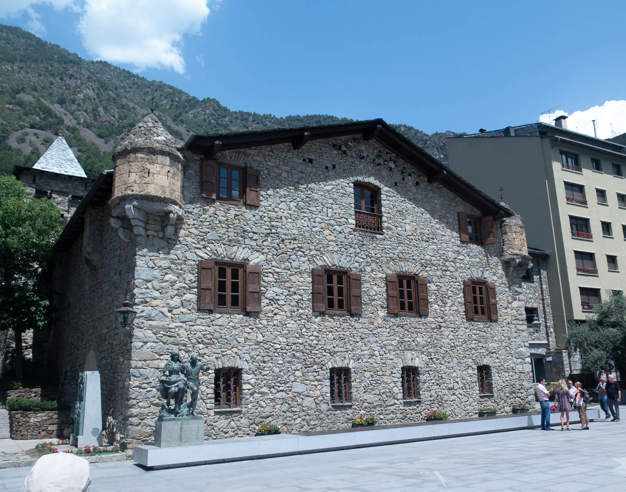 Parlamentsgebäude (alt) ind Andorra la Vella