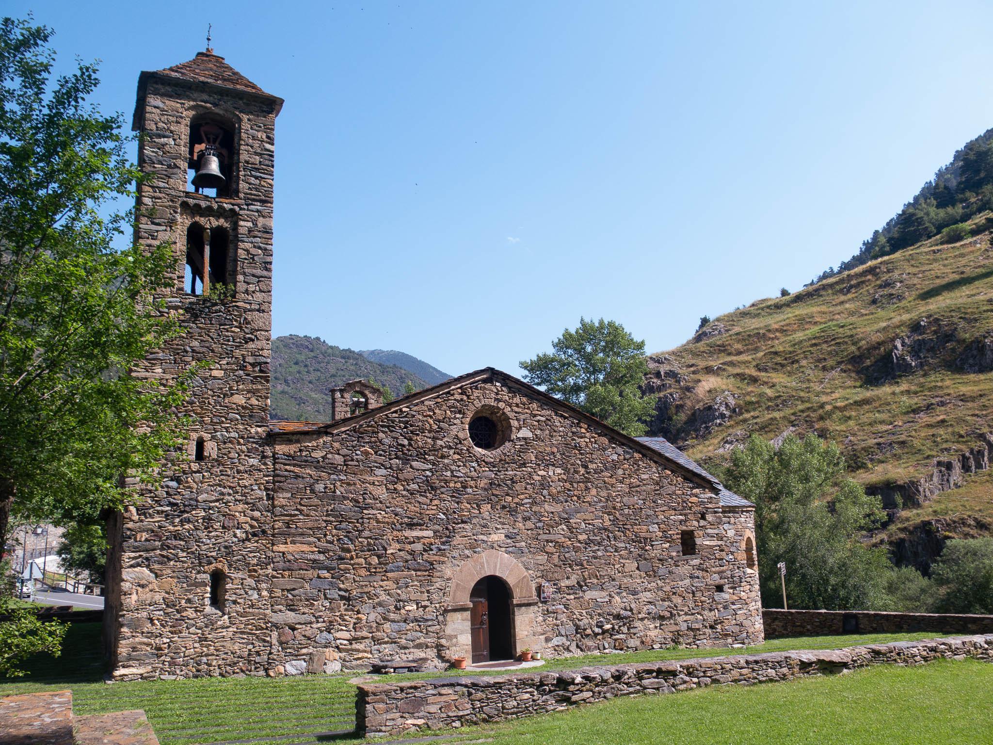 Martinskirche in Cortinada in Andorra, außenansicht