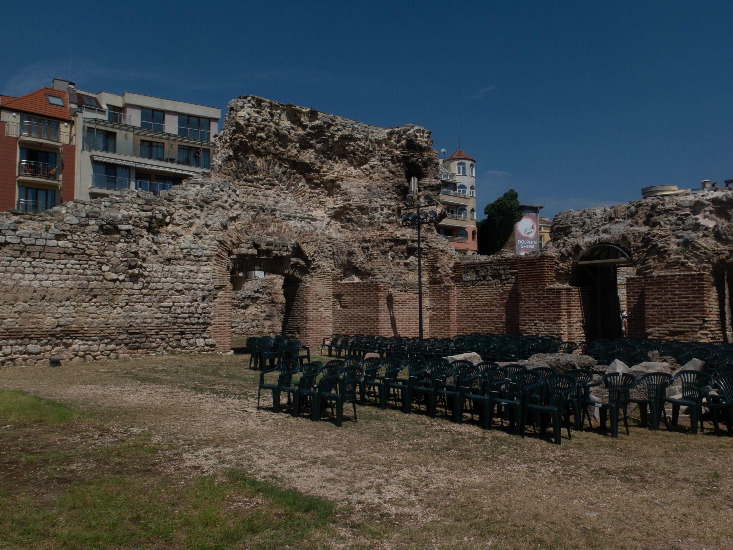 Römisches Bad Mauerwerk in Varna