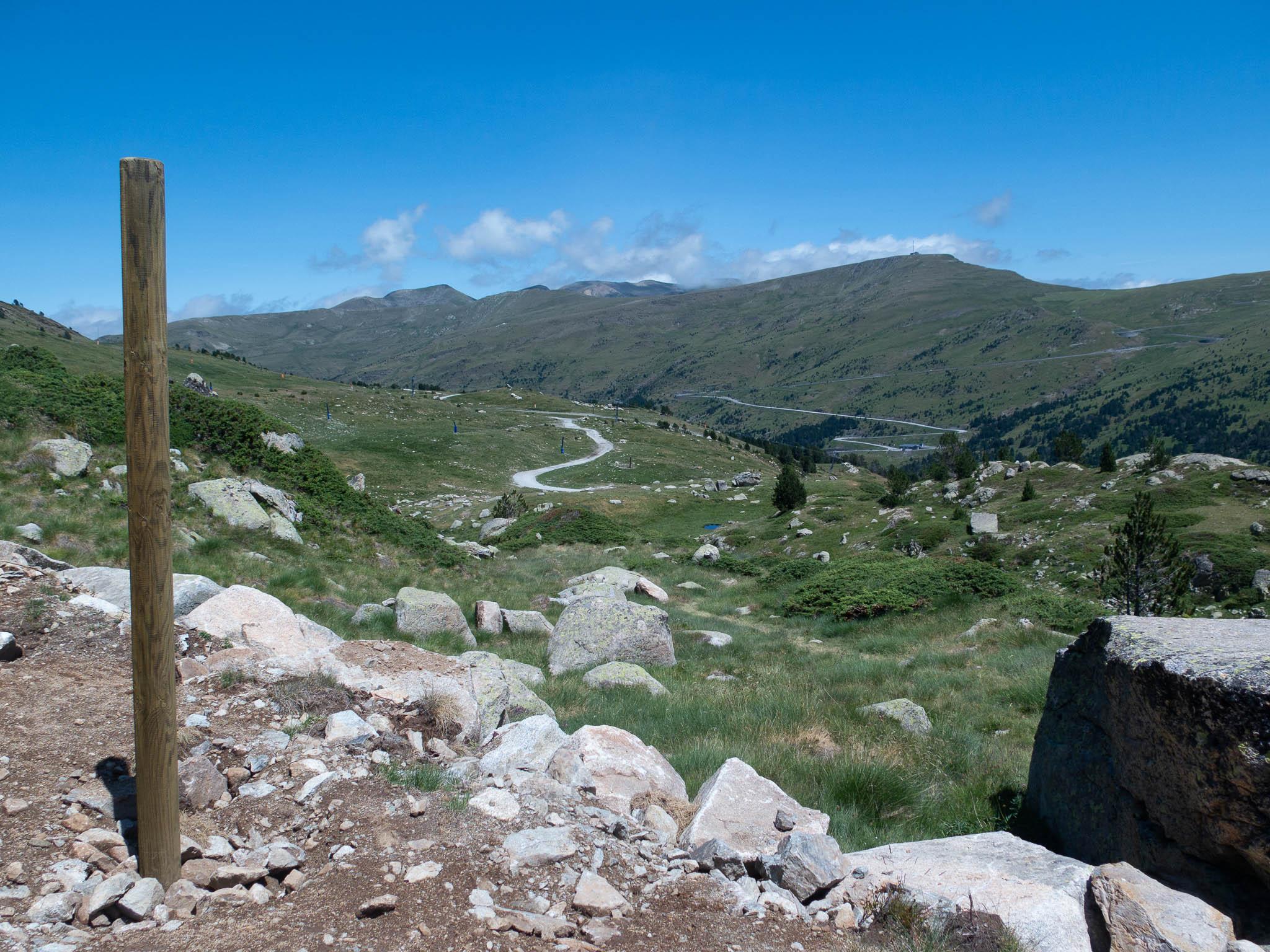 Aussicht ins Tal Grandvalira Andorra