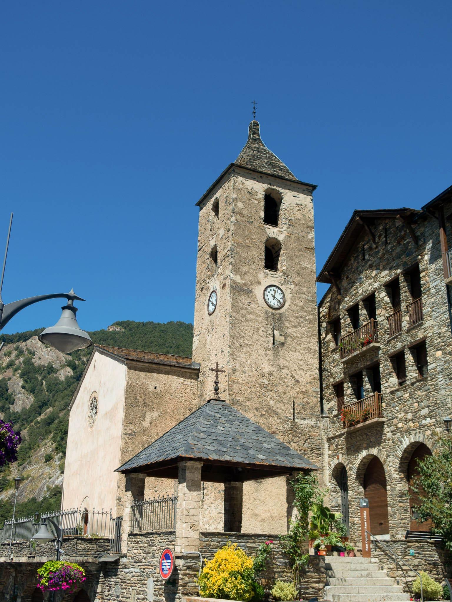Kirche in Ordino in Andorra, Sant Corneli i Sant Cebria