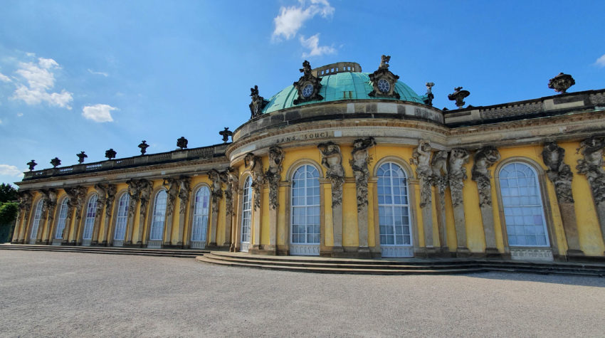 Schloss Sanssouci Potsdam Ansicht vorne